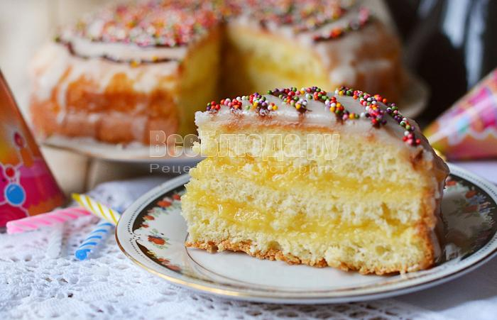Бисквитное пирожное с заварным кремом рецепт 153