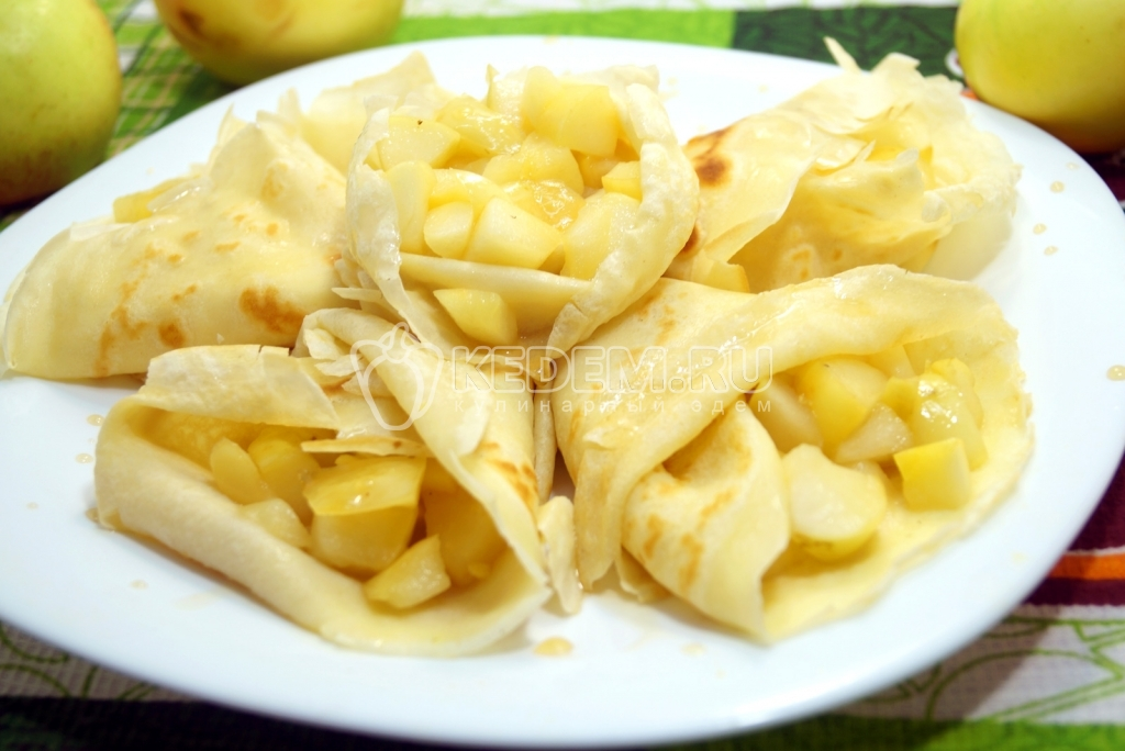 Масленица: Блины с яблоками - Секреты приготовления