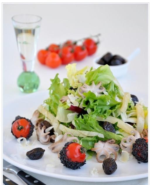 Салат с осьминогом по рецепту с фото