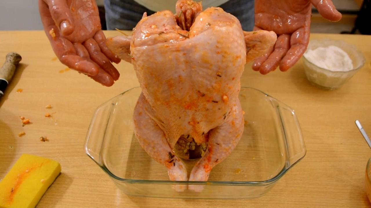 Пошаговый фото рецепт запеченной курицы в меду