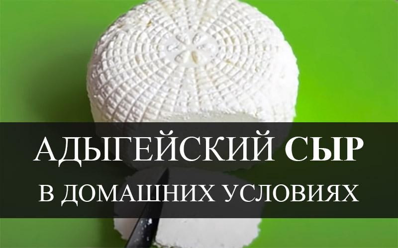 Рецепт адыгейского сыра в домашних условиях