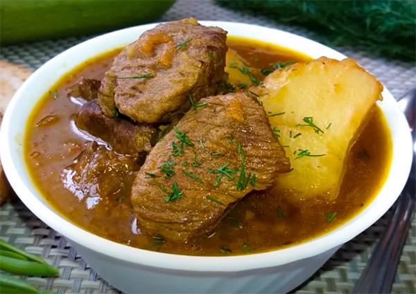 Лывжа из говядины по осетински